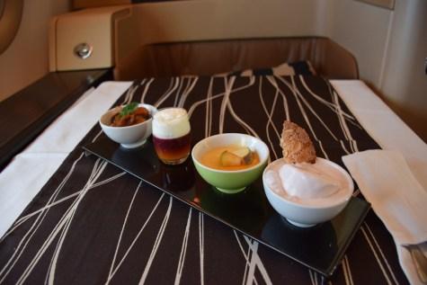 Etihad Airways Diamond First Class - DInner dessert