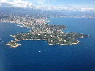 Cote d'Azur from the plane