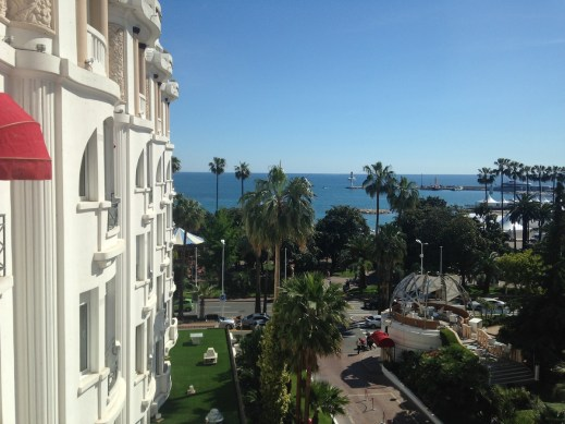 Cannes La Croisette from the Majestic Barriere