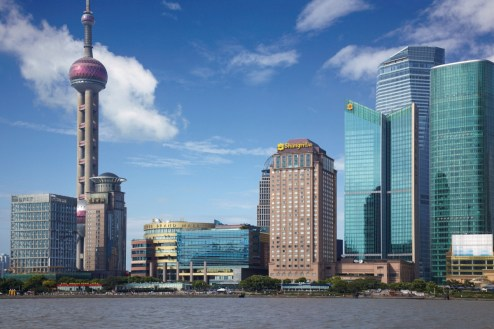 Pudong Shangri-La - Skyline view
