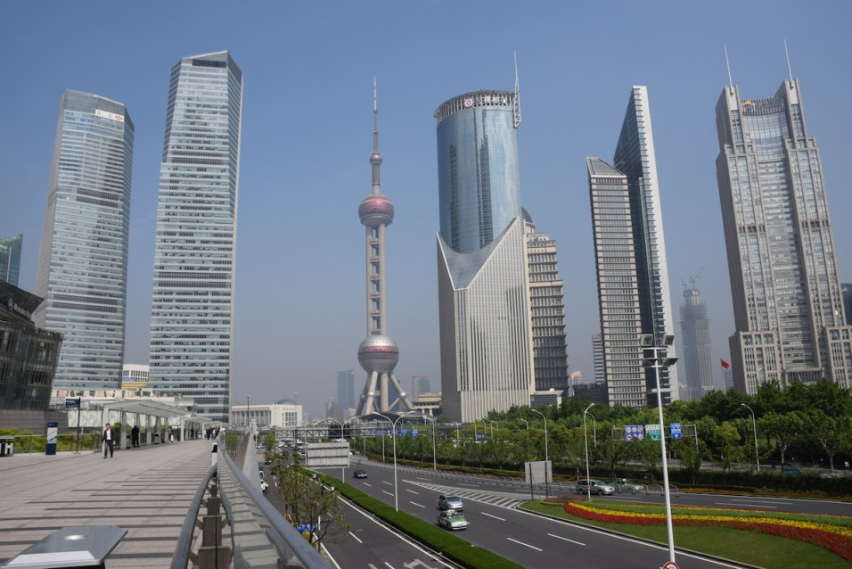Shanghai - Oriental Pearl from Pudong side