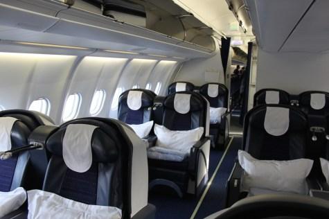 Air Seychelles Business Class - Cabin front