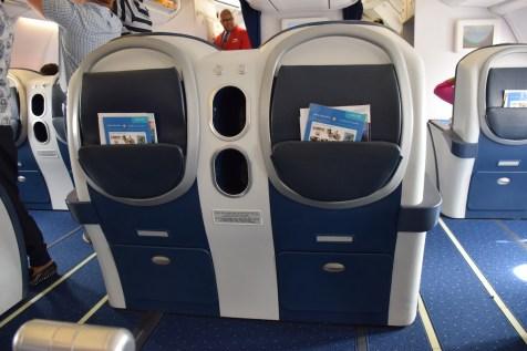 Air Seychelles Business Class - Seat pitch