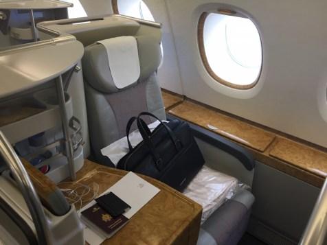 Emirates A380 Business Class - Window seat