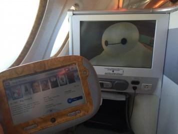 Emirates A380 Business Class - Usage of touch pad