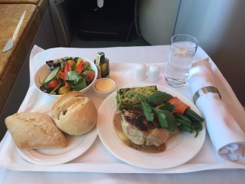 Emirates A380 Business Class - Lunch