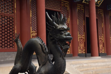 Tour of China - Beijing Summer Palace dragon guardian