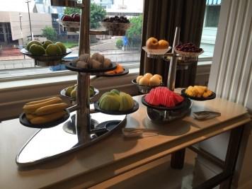 Peninsula Hong Kong - The Verandah breakfast fruit setup