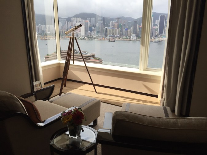 Peninsula Hong Kong - Deluxe Harbour View Suite bedroom sofas