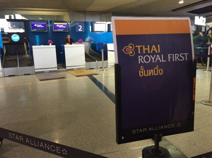 Thai Airways A380 Royal First Class - Paris check-in