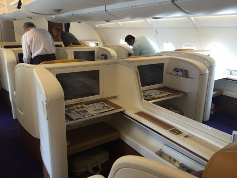 Thai Airways A380 Royal First Class - Middle seats