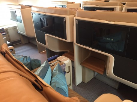 Singapore Airlines A380 Business Class - Middle seats