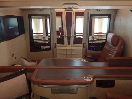 Singapore Airlines A380 Suites - Middle seats