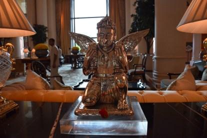 Lobby silver artpiece