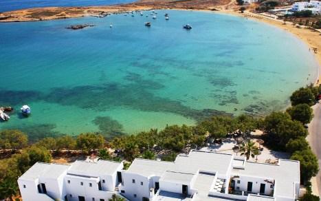 A beach on Paros island