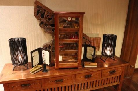 Cigar selection at Club House