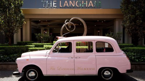 The Langham pink taxi - Picture by The Langham Melbourne