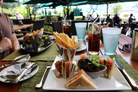 Mandarin Club Sandwich at Verandah