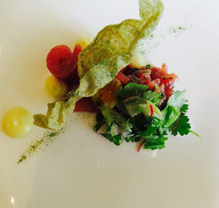 Restaurant tuna dish