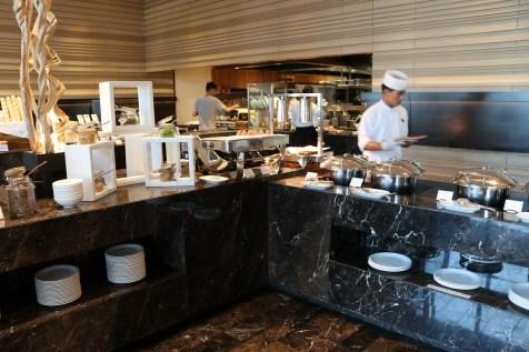 Buffet breakfast at Up & Above restaurant