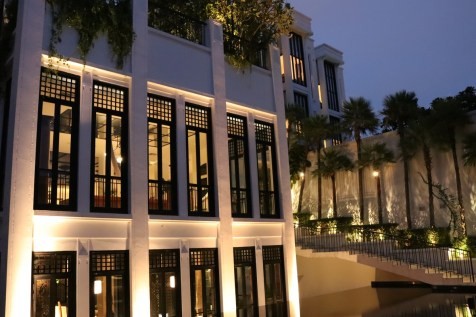 Main building at night - The Siam Hotel