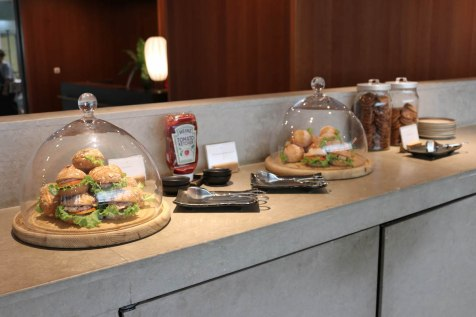 Cathay Pacific Business Class lounge at Bangkok airport - Buffet