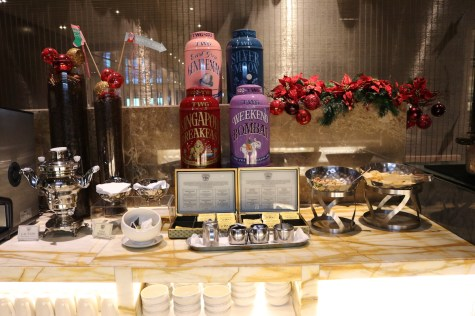 SilverKris lounge tea selection