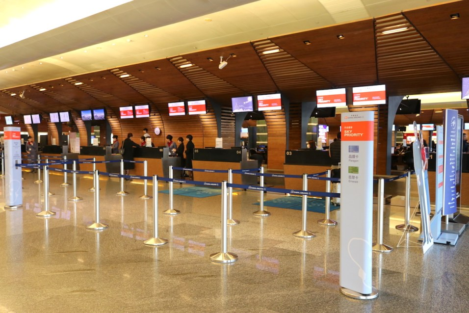 China Airlines check-in countersc