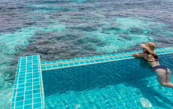 Relaxing in Maldives