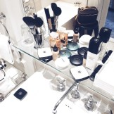 bathroom makeup