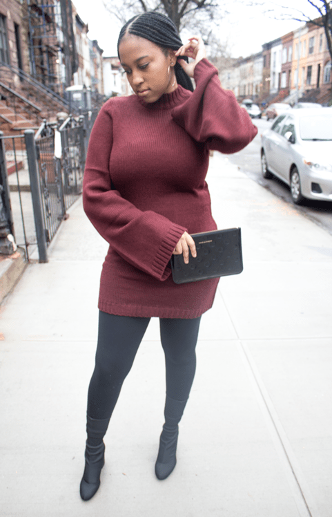 Date-Night-Sweater-Dress-Bell-Sleeves-Outfit
