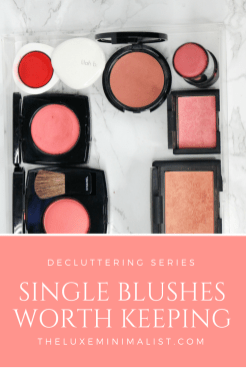 Makeup Blush Declutter 2018