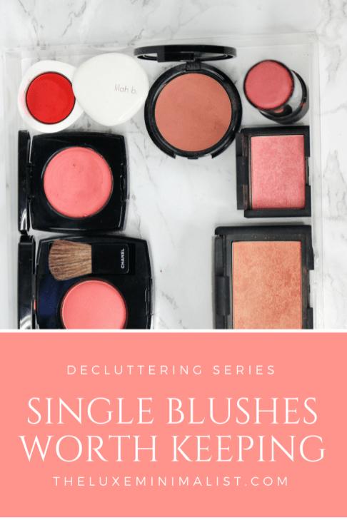 Makeup Blush Declutter 2018