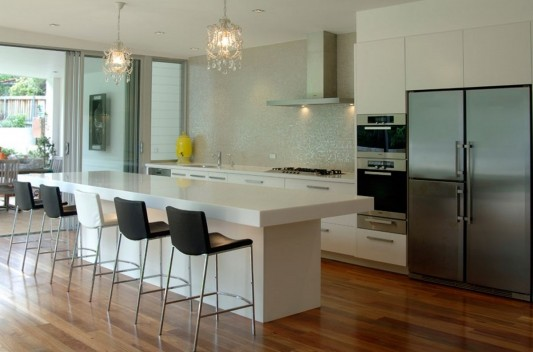 Contemporary Kitchen Counter and Breakfast Bar Design by ... on Kitchen Counter Decor Modern  id=88838