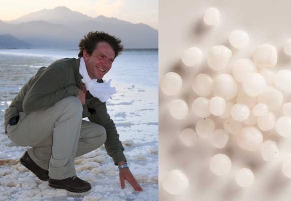 Erwann de Kerros en Djibouti donde se cosechan las perlas de sal