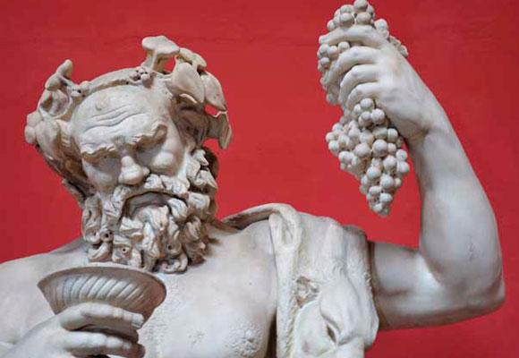Dionisio o Baco, Dios mitológico del vino