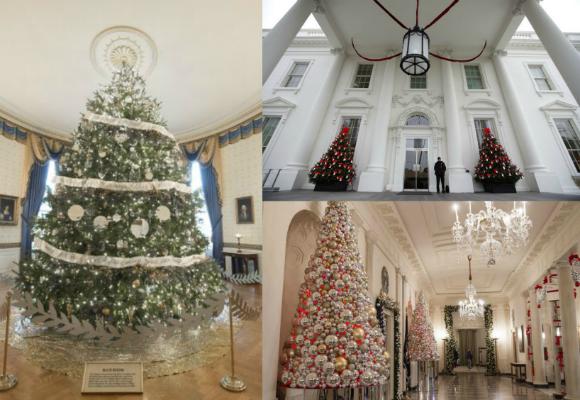 decoración navideña la casa blanca
