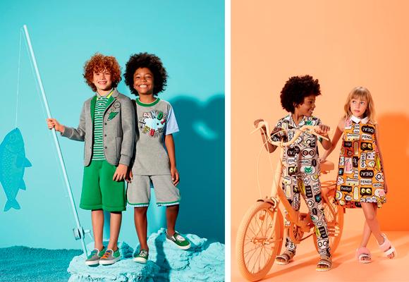 Colores y diseño en la línea kids de Fendi