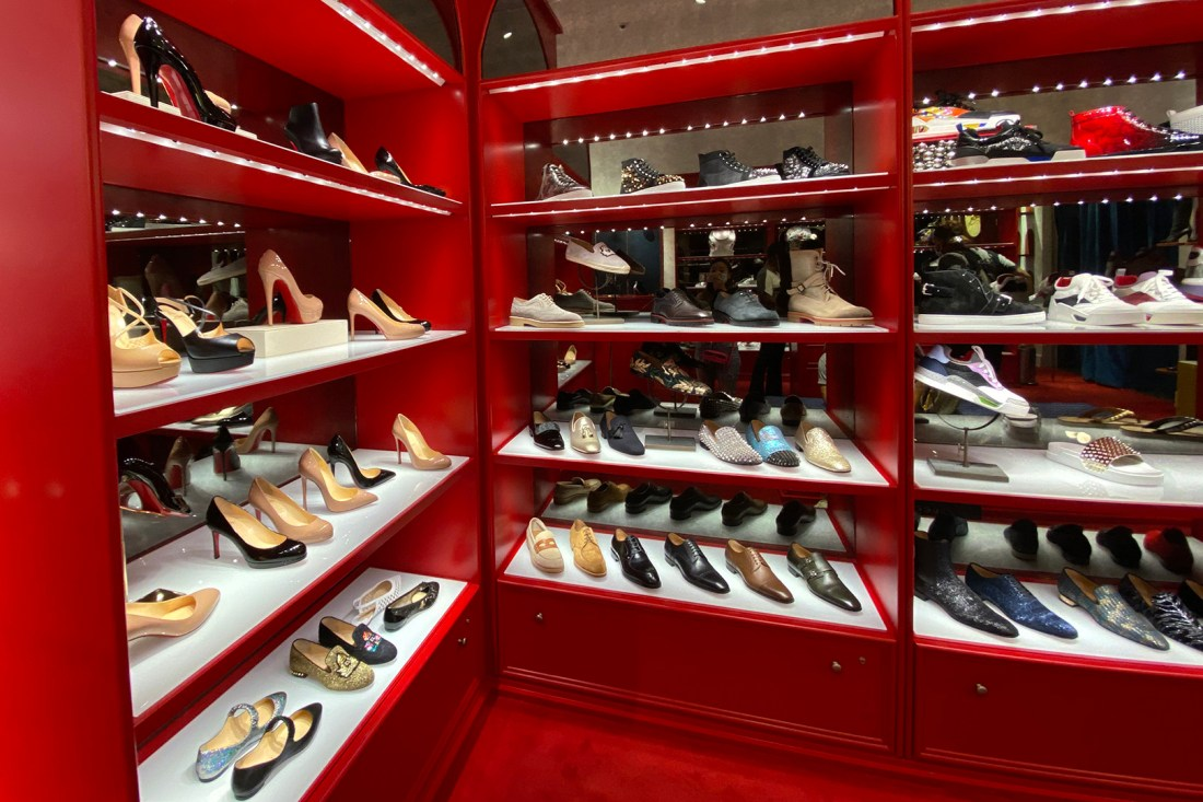 Back Shoe Wall at the Christian Louboutin Outlet