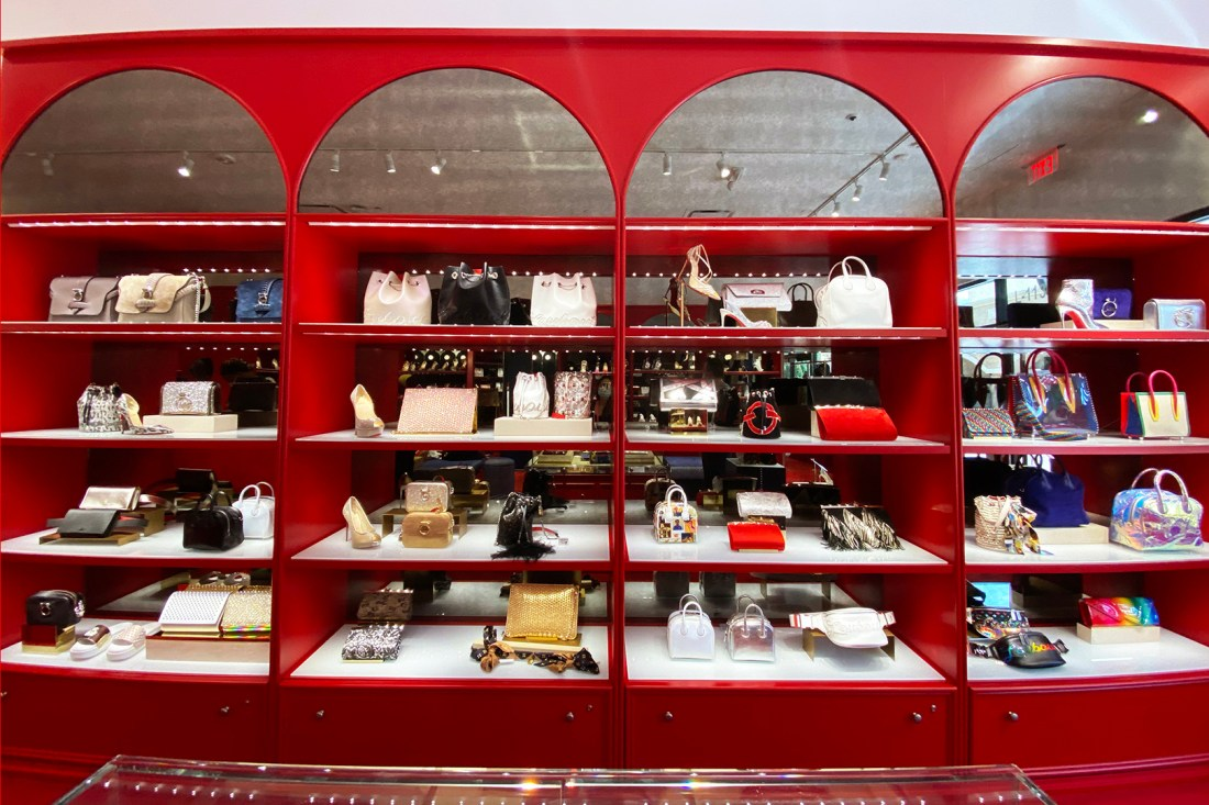 Christian Louboutin Outlet Purse Wall (The Luxury Lowdown Blog)