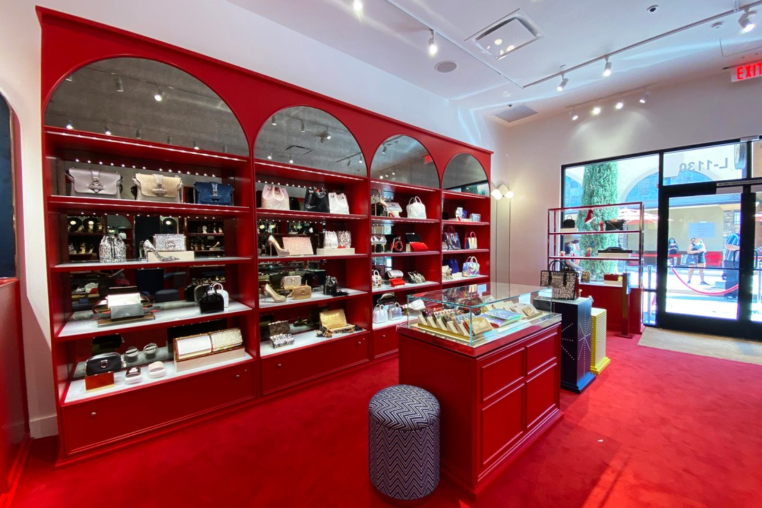Purse Wall in the Christian Louboutin Outlet (The Luxury Lowdown Blog)