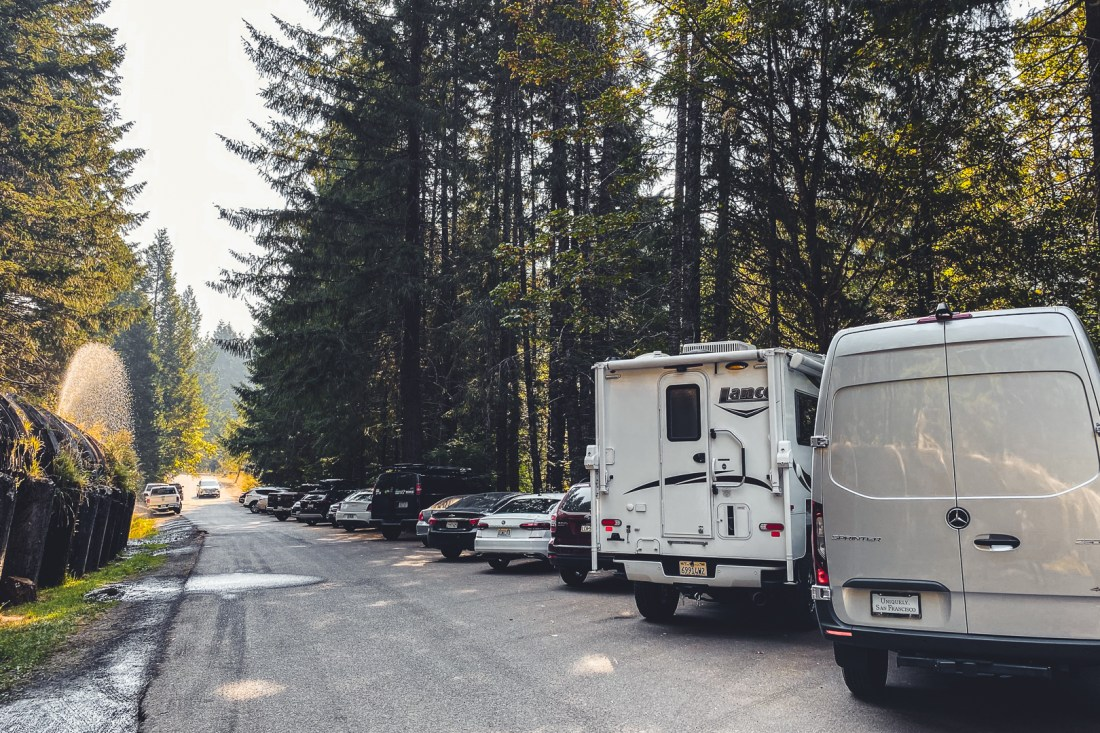 Toketee Falls Parking Lot