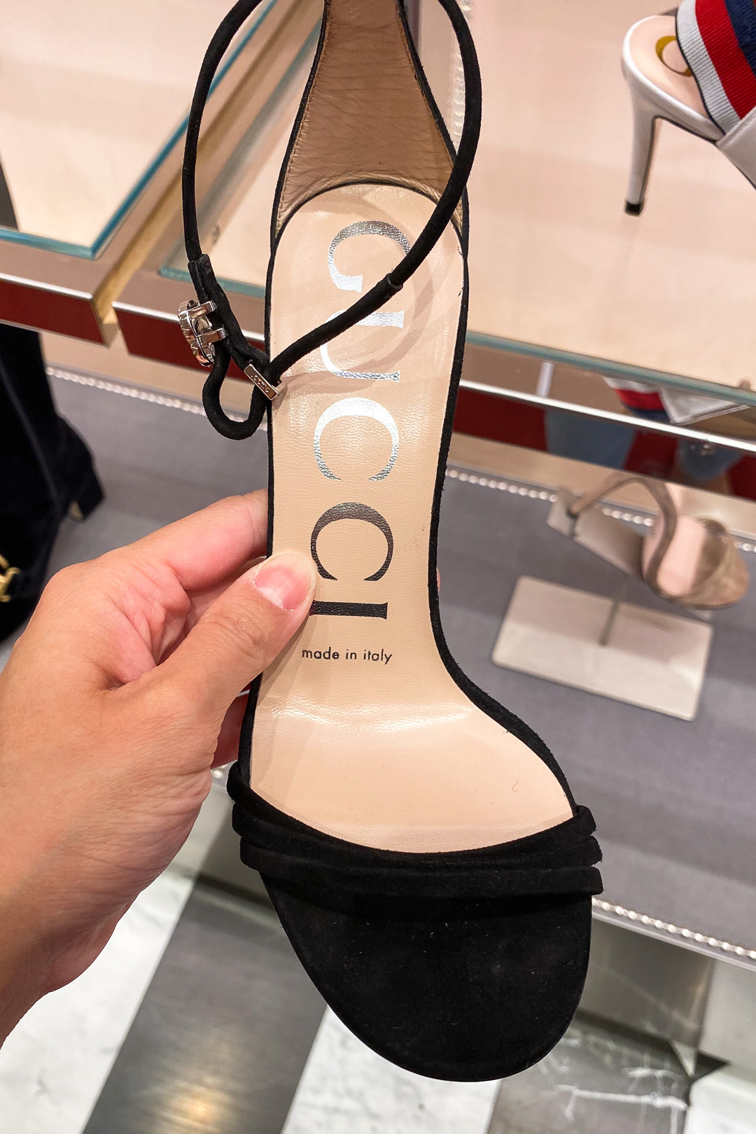 Heels at the Gucci Outlet