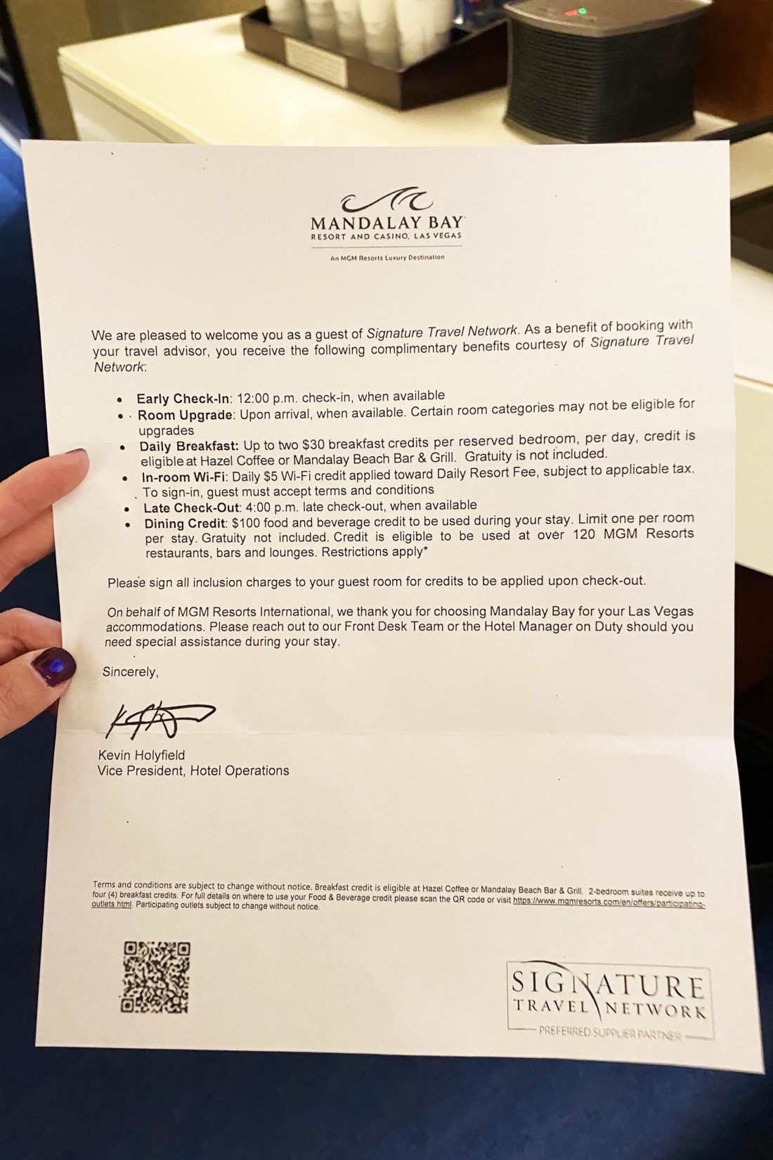 Chase LHRC Welcome Letter