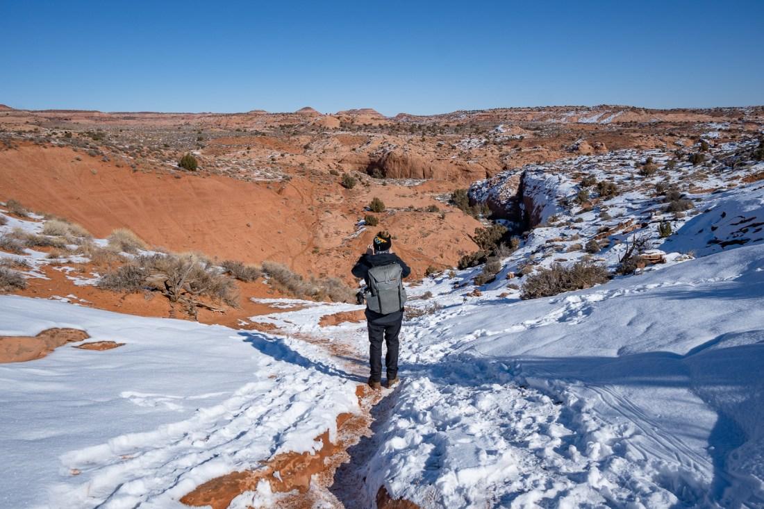 Walking along the canyon