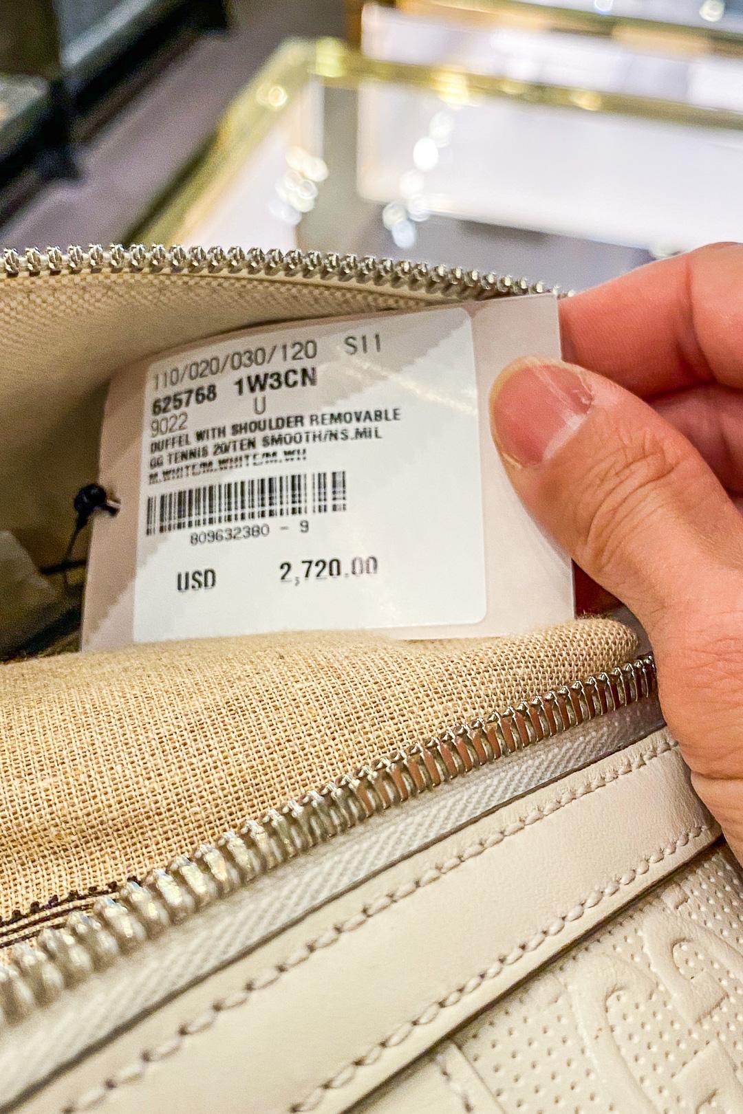 Gucci Hawaii Waikiki GG Embossed Duffle Bag Price