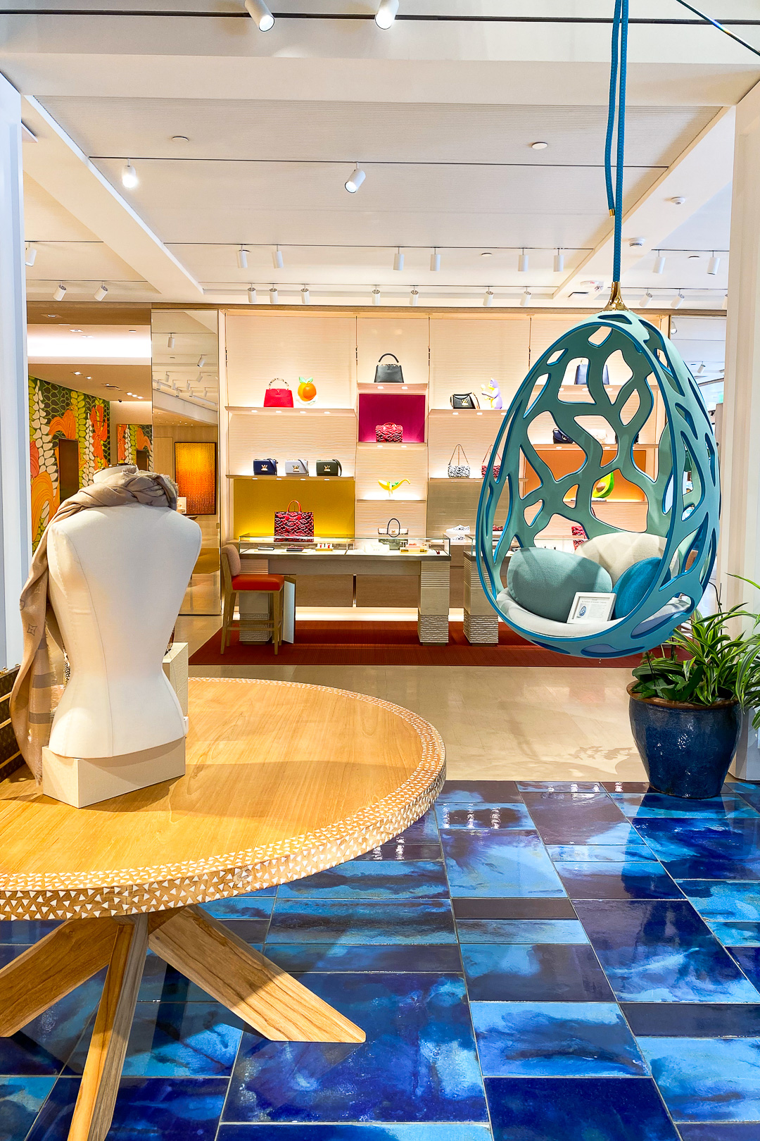 Inside the Louis Vuitton Waikiki store