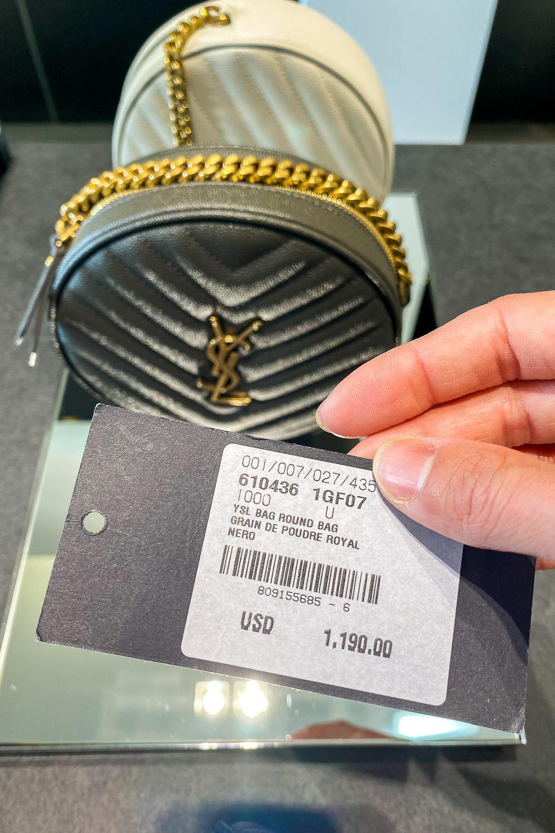 YSL Vinyle Round Camera Bag Price - Take 20% Off Sticker Price