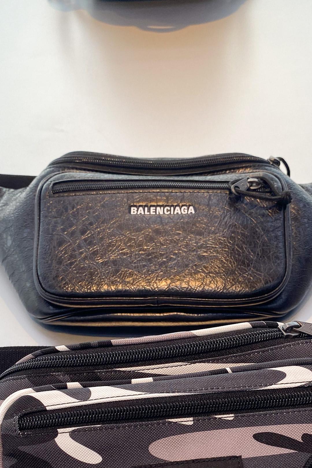 Balenciaga Men's Explorer Beltbag in Black Lambskin