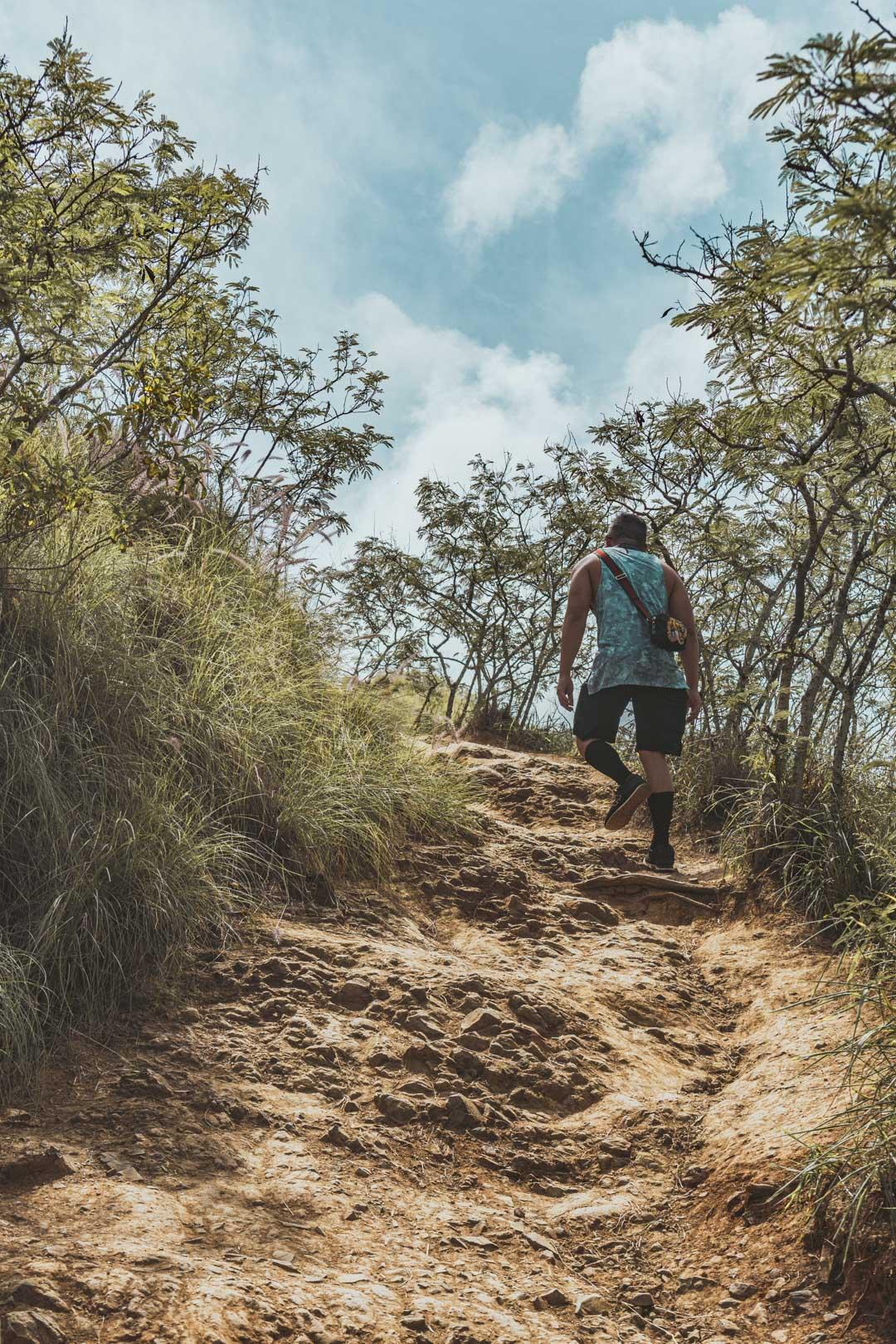 Hiking Up Lanikai Pillbox Trail